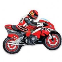 Фольгированный шар Мотоциклист