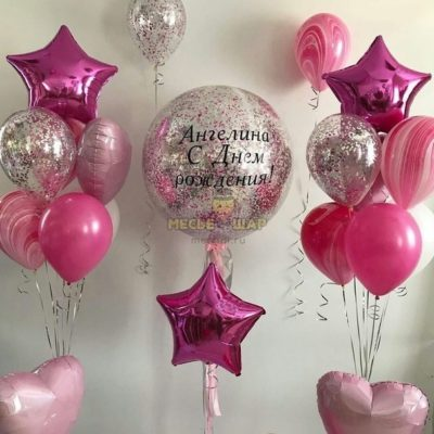 Набор Ярко розовый из шаров