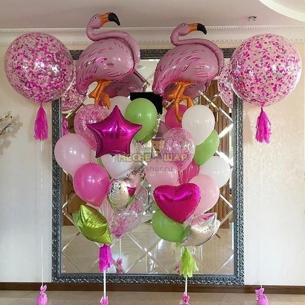 Набор Фламинго стайл из шаров для женщин
