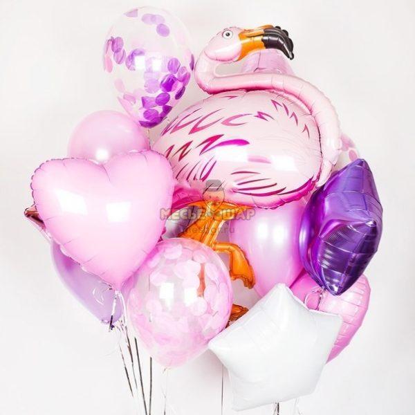 Набор Фламинго из шаров детям