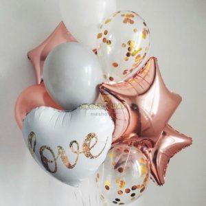 Набор Розовая любовь из шаров