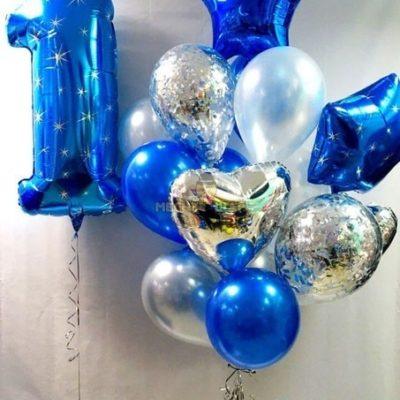 Набор Синий иней из шаров детям