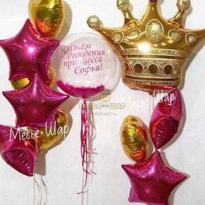 Набор для принцессы из шаров детям