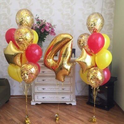 Набор Желтое золото из шаров
