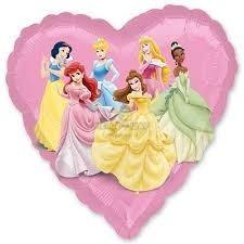 Фольгированный шар Принцессы в сердце