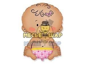 Фольгированный шар Пупсик девочка