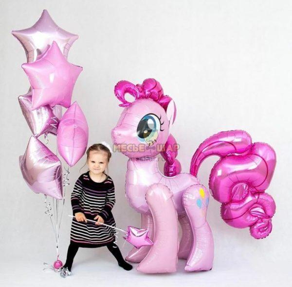 Ходячий шар Розовая пони