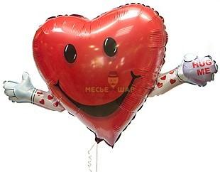 Фольгированный шар Сердце с ручками