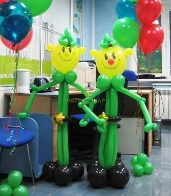 Солдаты из шаров к 23 февраля