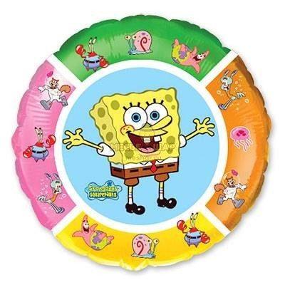 Фольгированный шар Спанч Боб в круге