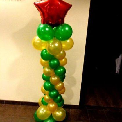 Стойка #1 из шаров к 23 февраля