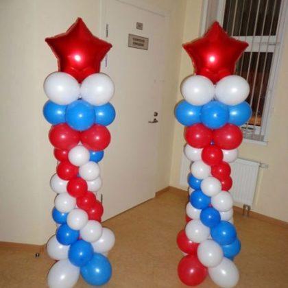 Стойка #2 из шаров к 23 февраля