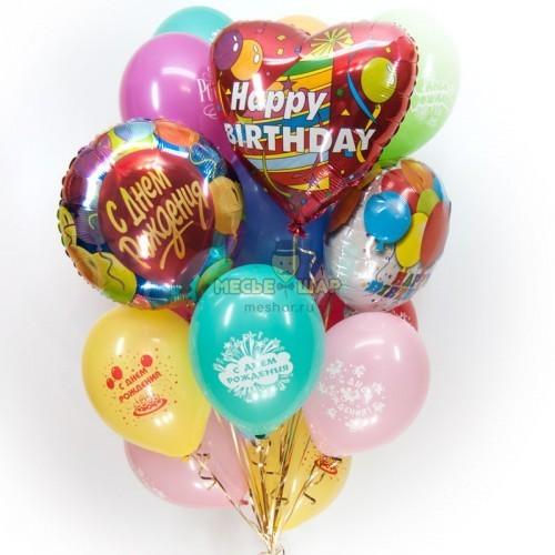 В день рождения - облако из шаров
