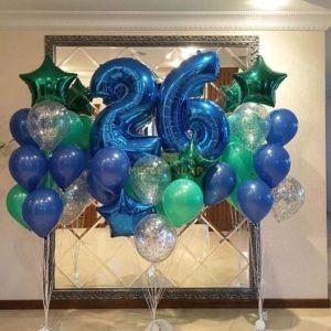Набор Изумрудно-синий из шаров