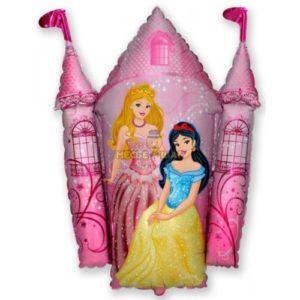 Фольгированный шар Замок с принцессами