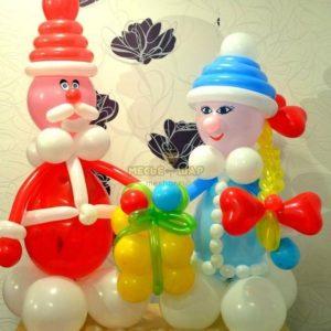 Зимняя радость из шаров на Новый год