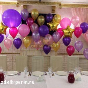 Композиция #11 из шаров на День рождения