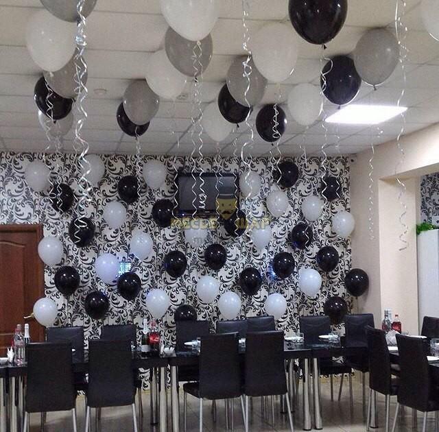 Композиция #12 из шаров на День рождения