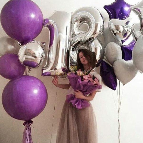 Композиция #14 из шаров на День рождения