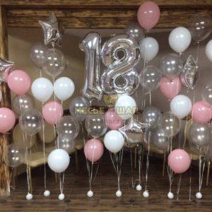 Композиция #17 из шаров на День рождения