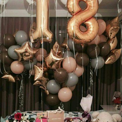 Композиция #19 из шаров на День рождения