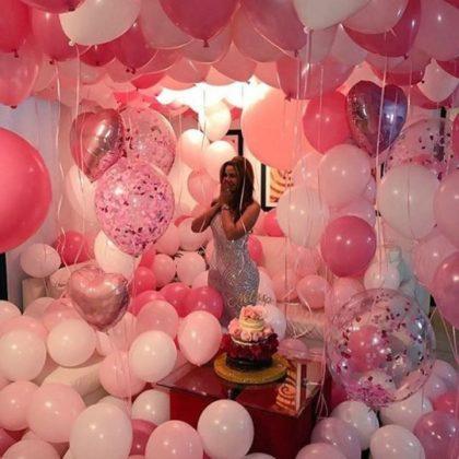 Композиция #20 из шаров на День рождения