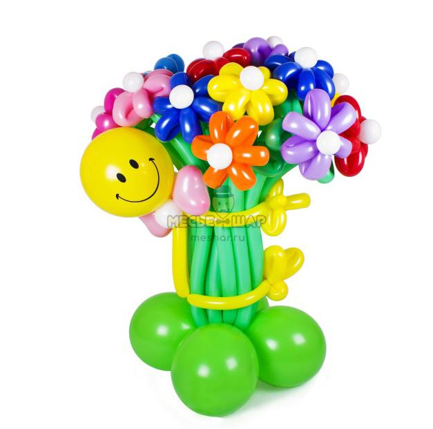 Смайл с букетом из шаров детям