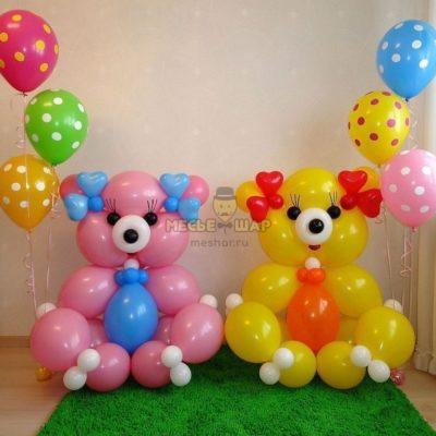 Медведи из шаров детям