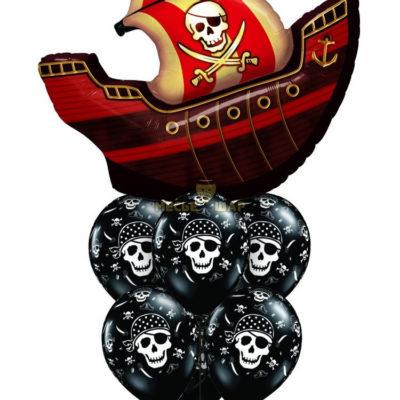 Пиратский фонтан из шаров детям