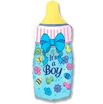 Бутылочка фольгированная на выписку