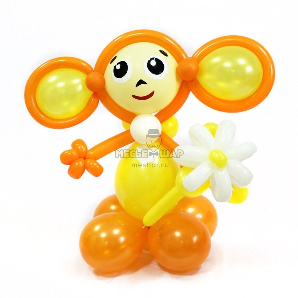 Чебурашка из шариков детям