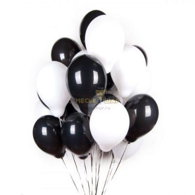 Черно-белые (30шт) - облако из шаров