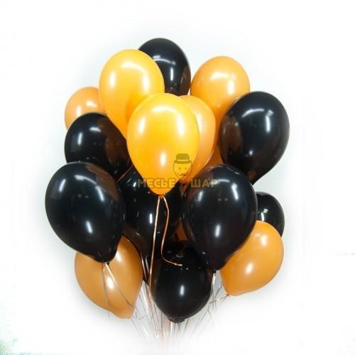 Черно-оранжевые (30шт) - облако из шаров