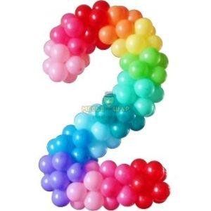Цифра на каркасе из шаров