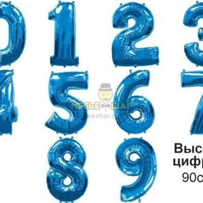 Цифра синия 90см из шаров