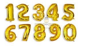 Цифра золото 90см из шаров