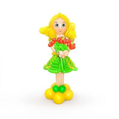 Девочка с букетом из шаров детям