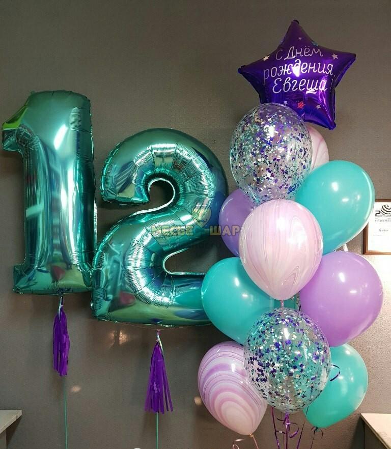 Набор Фиолетовое счастье из шаров детям