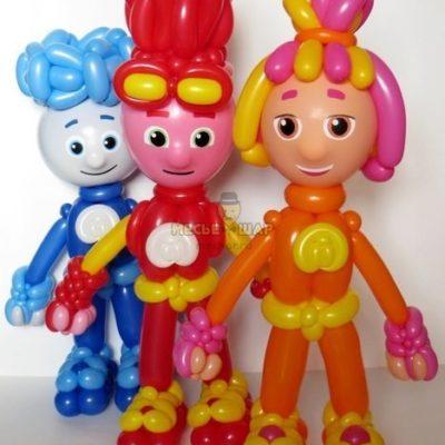 Фиксики из шариков детям