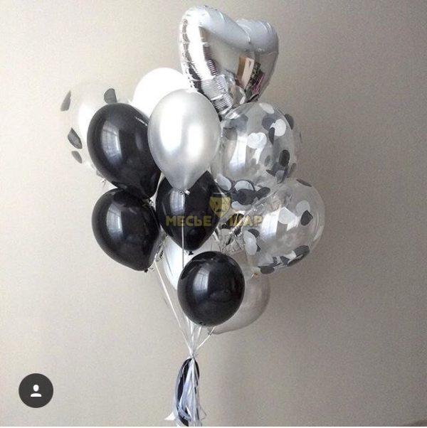 Фонтан 10 из воздушных шаров