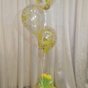 Фонтан 12 из воздушных шаров