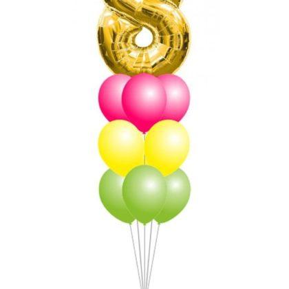 Фонтан 13 из воздушных шаров