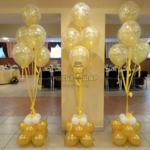 Фонтан 15 из воздушных шаров