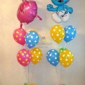 Фонтан 16 из воздушных шаров