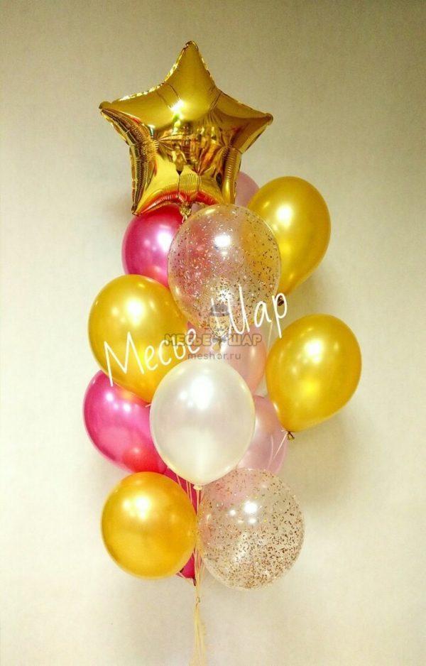 Фонтан 8 из воздушных шаров