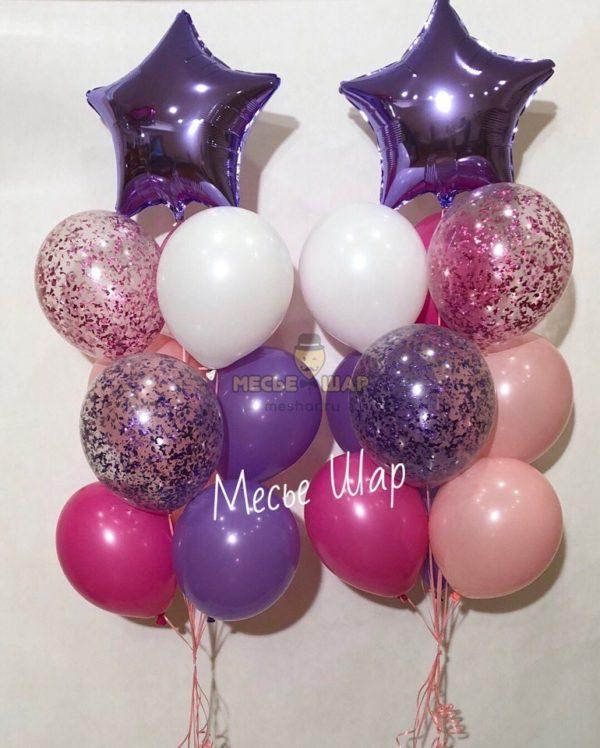 Фонтан Фиалка из воздушных шариков