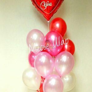 Фонтан с Любовью из воздушных шаров
