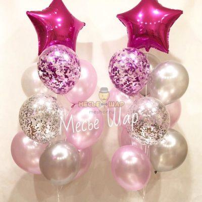 Фонтан Пушинка из воздушных шаров