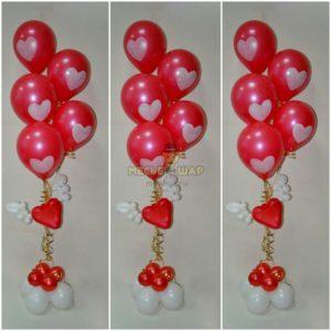 Фонтан Любимым из воздушных шаров