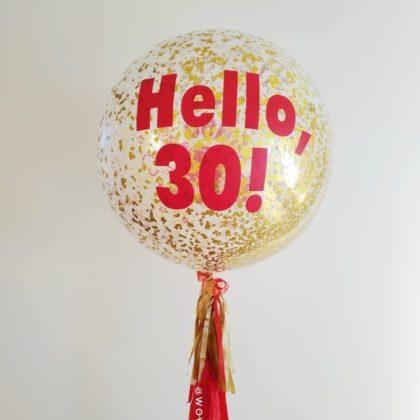 Гигант шар (90см) + надпись + тассел